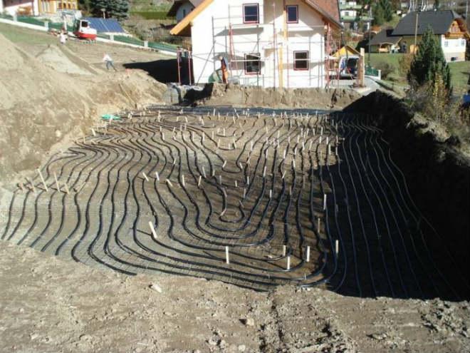 Обустройство геотермального отопления частного дома под ключ