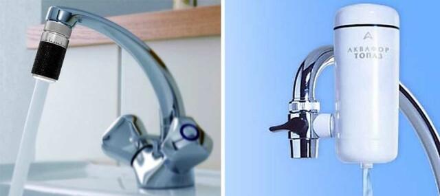 насадки на кран для очистки воды
